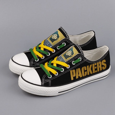 Green Bay Packers Canvas Shoes,  [product_collection], DEFINITE Sporting Goods, [product_tags]- DEFINITE Sporting Goods