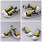 Pittsburgh Steelers Canvas Shoes,  [product_collection], DEFINITE Sporting Goods, [product_tags]- DEFINITE Sporting Goods