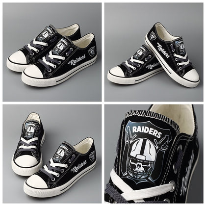 Oakland Raiders Canvas Shoes,  [product_collection], DEFINITE Sporting Goods, [product_tags]- DEFINITE Sporting Goods