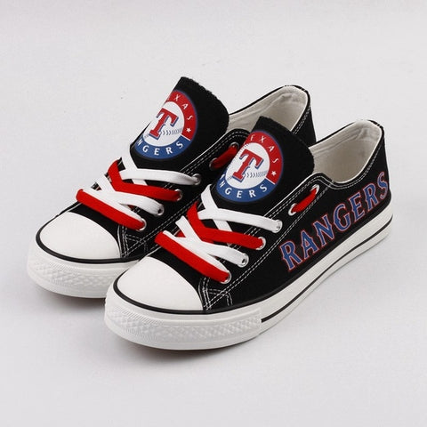 Texas Rangers Custom Womans Canvas Shoes,  [product_collection], DEFINITE Sporting Goods, [product_tags]- DEFINITE Sporting Goods
