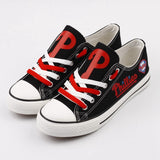 Philadelphia Phillies Custom Womans Canvas Shoes,  [product_collection], DEFINITE Sporting Goods, [product_tags]- DEFINITE Sporting Goods