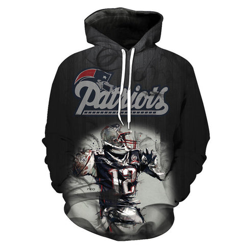New England Patriots Smoke Slim Stylish 3D Hoodies,  [product_collection], DEFINITE Sporting Goods, [product_tags]- DEFINITE Sporting Goods