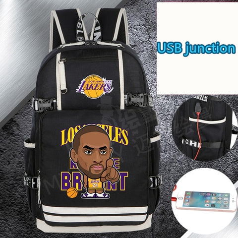 Lakers Kobe Bryant Custom NBA Basketball Backpack,  [product_collection], DEFINITE Sporting Goods, [product_tags]- DEFINITE Sporting Goods