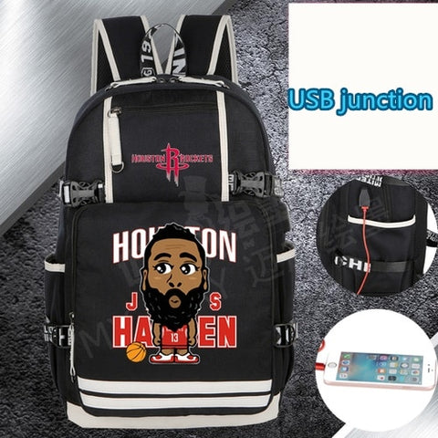 Rockets James Harden Custom NBA Basketball Backpack,  [product_collection], DEFINITE Sporting Goods, [product_tags]- DEFINITE Sporting Goods