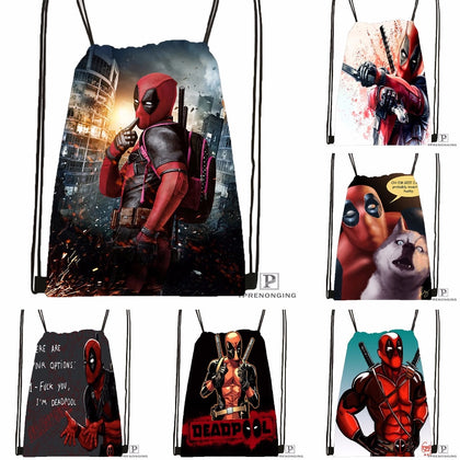 Custom Deadpool Drawstring Backpack,  [product_collection], DEFINITE Sporting Goods, [product_tags]- DEFINITE Sporting Goods