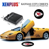 Kansas City Chiefs Wireless LED Door Projector,  [product_collection], DEFINITE Sporting Goods, [product_tags]- DEFINITE Sporting Goods