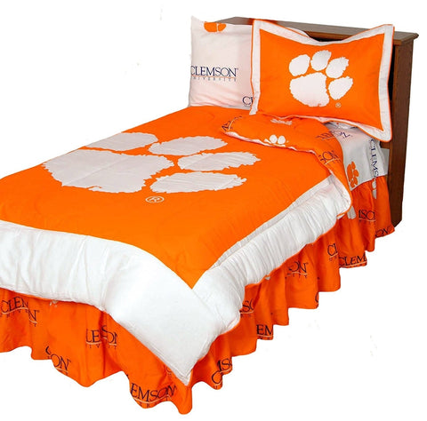 Clemson Reversible Comforter Set - Twin,  [product_collection], DEFINITE Sporting Goods, [product_tags]- DEFINITE Sporting Goods