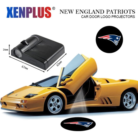 2pc New England Patriots Car Door Projector,  [product_collection], DEFINITE Sporting Goods, [product_tags]- DEFINITE Sporting Goods