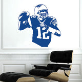New England Patriots Tom Brady Wall Decal Sticker,  [product_collection], DEFINITE Sporting Goods, [product_tags]- DEFINITE Sporting Goods