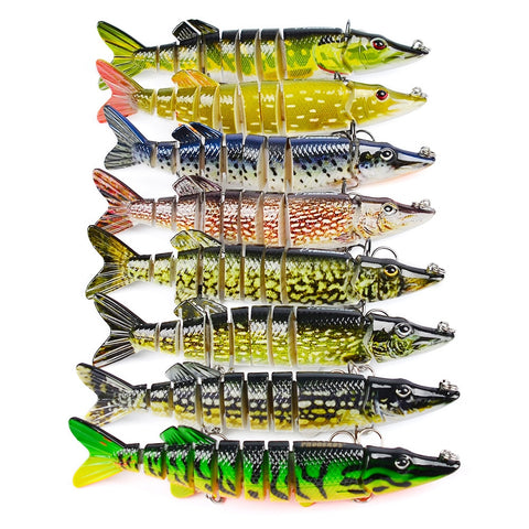 3D Eyes 6-Segment Lifelike Pike Fishing Swimbait Lure,  [product_collection], DEFINITE Sporting Goods, [product_tags]- DEFINITE Sporting Goods