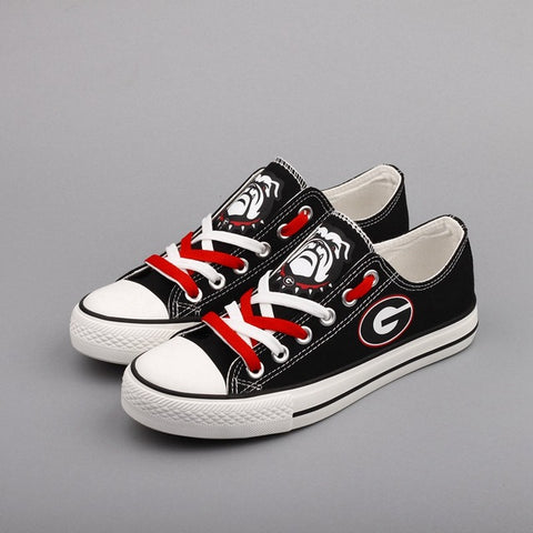 UGA Bulldogs Ugga Women's Canvas Shoes,  [product_collection], DEFINITE Sporting Goods, [product_tags]- DEFINITE Sporting Goods