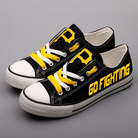 Pittsburgh Pirates Custom Womans Canvas Shoes,  [product_collection], DEFINITE Sporting Goods, [product_tags]- DEFINITE Sporting Goods