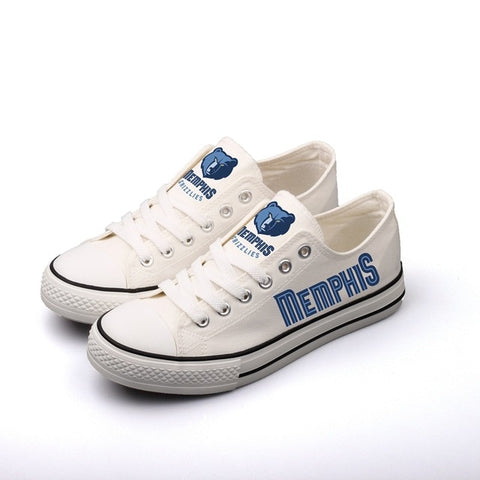 Memphis Grizzles Womens NBA Custom Canvas Shoes,  [product_collection], DEFINITE Sporting Goods, [product_tags]- DEFINITE Sporting Goods