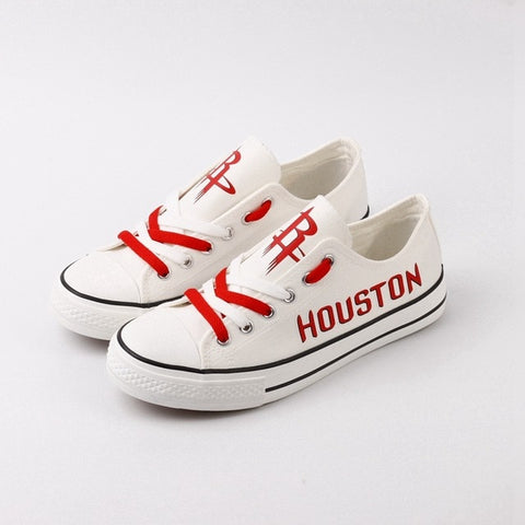 Houston Rockets Womens Custom NBA Canvas Shoes,  [product_collection], DEFINITE Sporting Goods, [product_tags]- DEFINITE Sporting Goods