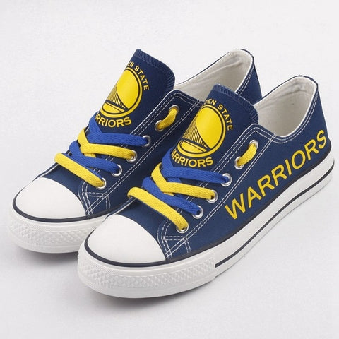 Golden State Warriors Womens Custom NBA Canvas Shoes,  [product_collection], DEFINITE Sporting Goods, [product_tags]- DEFINITE Sporting Goods