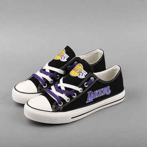 La Lakers Womens Custom NBA Canvas Shoes,  [product_collection], DEFINITE Sporting Goods, [product_tags]- DEFINITE Sporting Goods