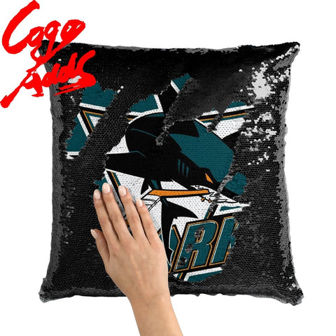 San Jose Sharks pillow cover,  [product_collection], DEFINITE Sporting Goods, [product_tags]- DEFINITE Sporting Goods