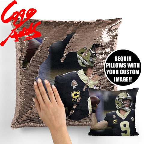 Drew Brees Saints pillow cover,  [product_collection], DEFINITE Sporting Goods, [product_tags]- DEFINITE Sporting Goods