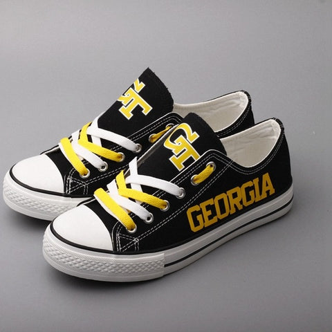 Georgia Tech GT Womens Team Canvas Shoes,  [product_collection], DEFINITE Sporting Goods, [product_tags]- DEFINITE Sporting Goods