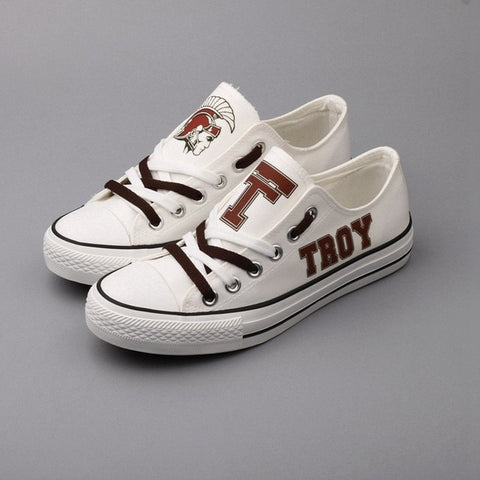 Retro Troy University Womens Team Canvas Shoes,  [product_collection], DEFINITE Sporting Goods, [product_tags]- DEFINITE Sporting Goods