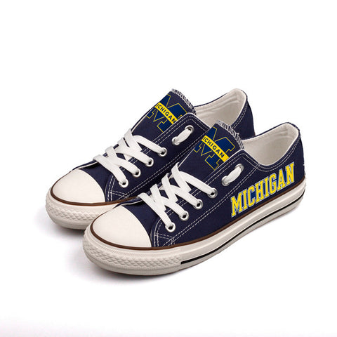 Michigan Wolverines Womens Team Canvas Shoes