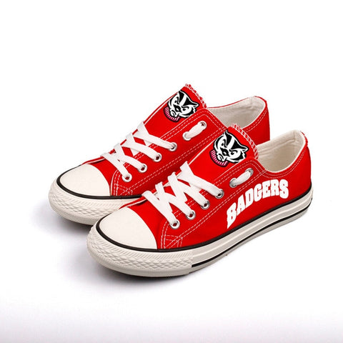 Wisconsin Badgers Women's Team Canvas Shoes,  [product_collection], DEFINITE Sporting Goods, [product_tags]- DEFINITE Sporting Goods