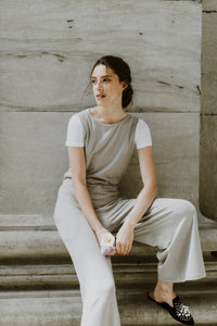 Sixtine Overalls | Taupe [Salopette Sixtine | Taupe]