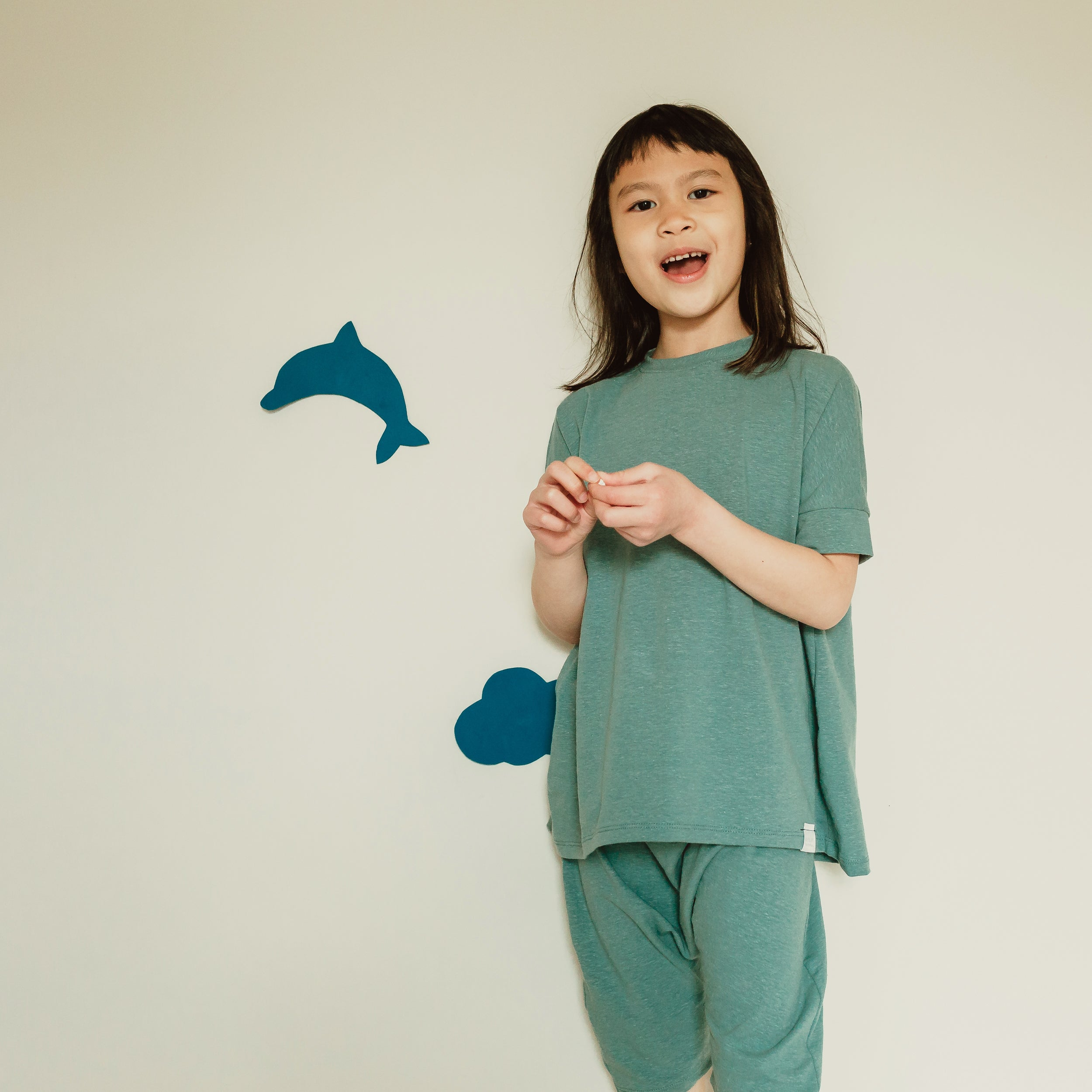 Grow With Me Bubble Shirt | Mineral Blue