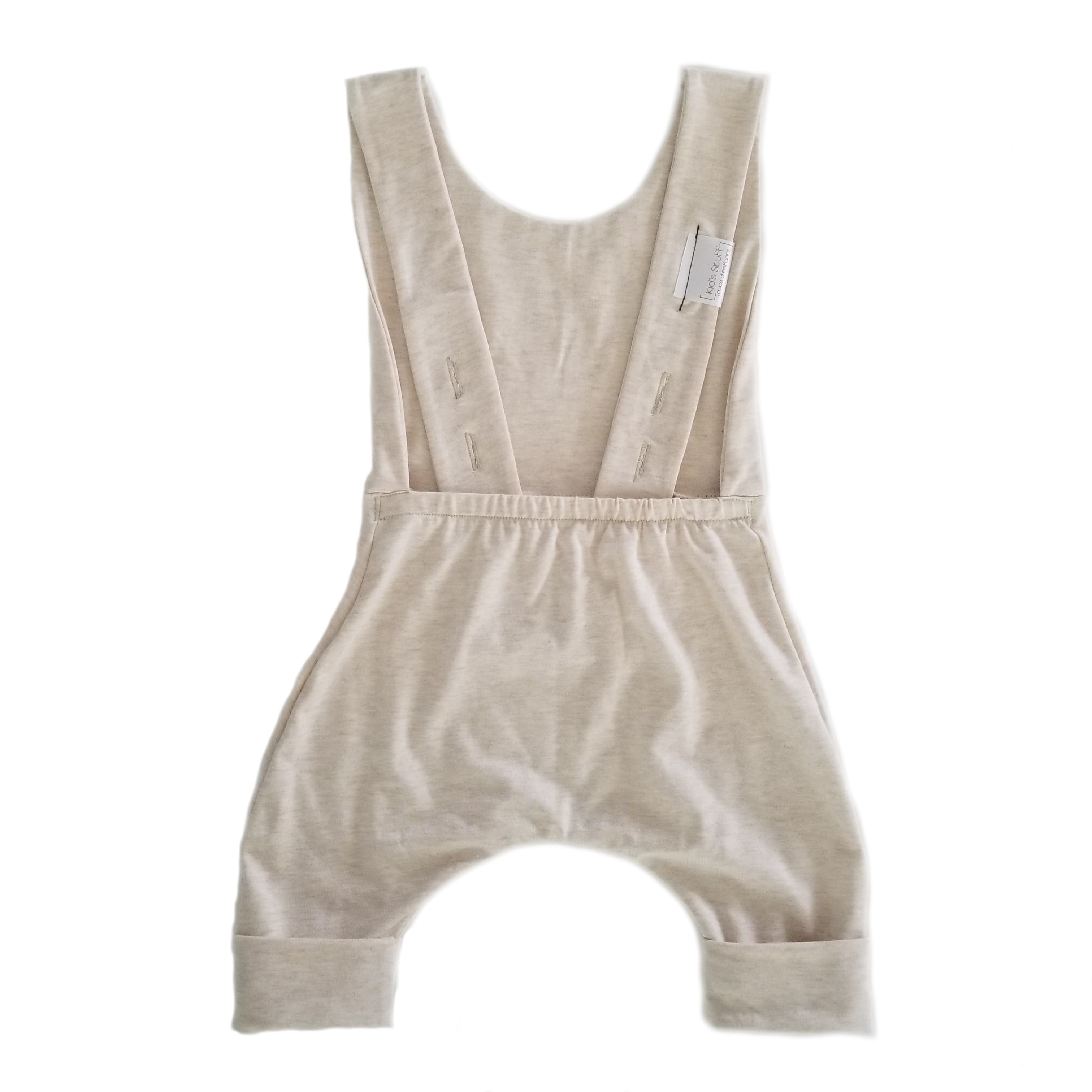 Grow With Me Shorts Overalls | Heather Cream