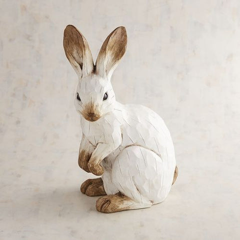 wooden carved bunny