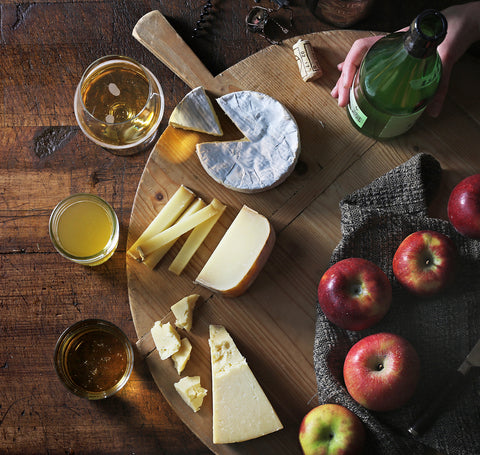 Cheese and pear cider