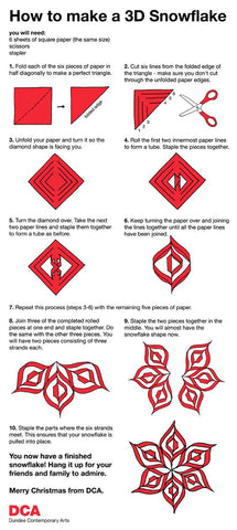 directions for 3-d snowflake