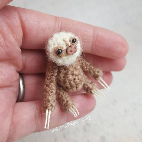 tiny crochet sloth
