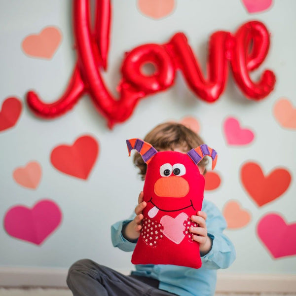 Love Monster Plush Gift for Child Valentines Day under 25-Stuffed Animal-Sir Winslows Zoo