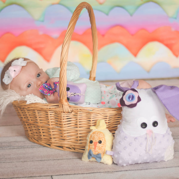 Easter Basket with bunny chick and baby