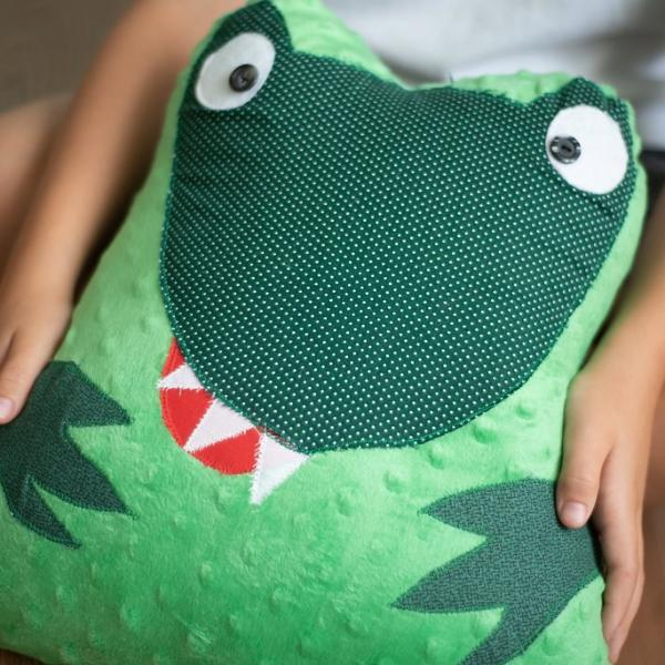 Green Dinosaur Pillow