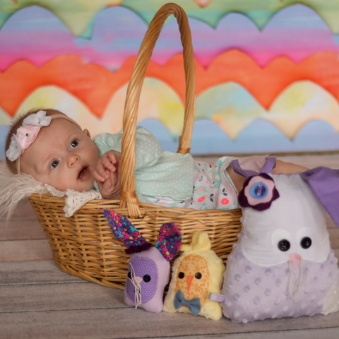 baby in Easter Basket