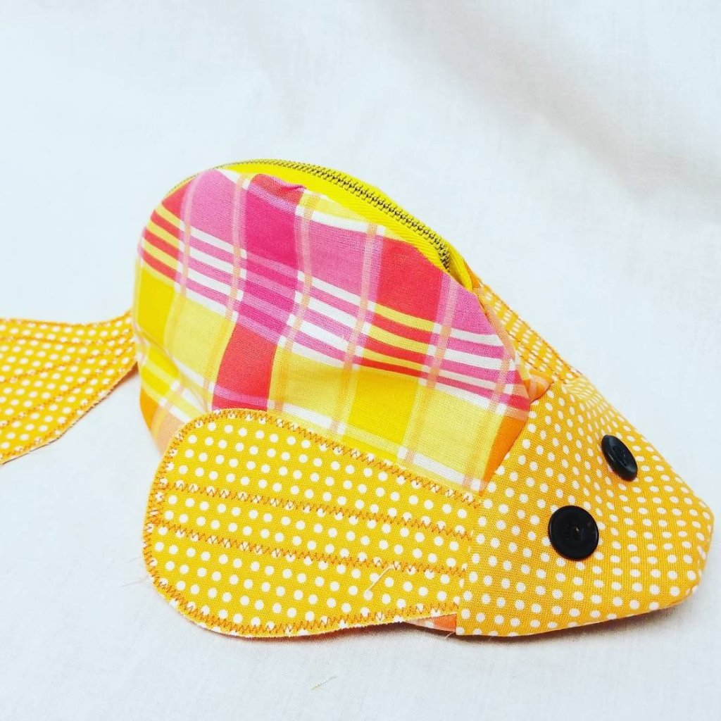 Yellow Fish Pencil Case-Pencil Case-Sir Winslows Zoo