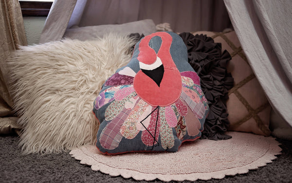 Flamingo Pillow-Stuffed Animal-Sir Winslows Zoo