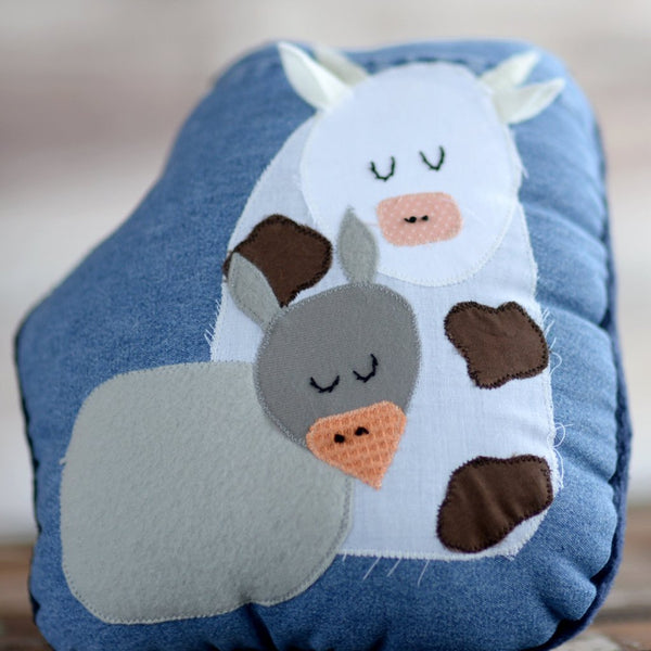 donkey and cow pillow