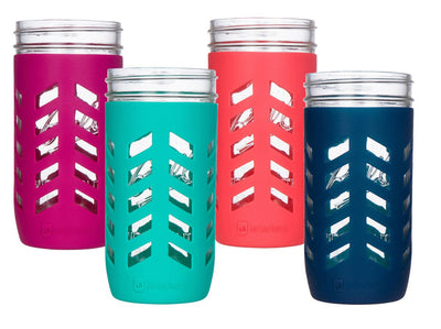 JarJackets 24oz (1.5pt) Wide Mouth Silicone Mason Jar Sleeve