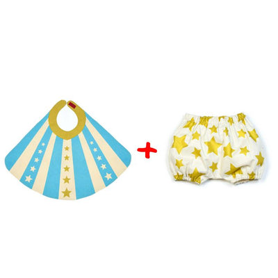 Lovelane Designs Blue Baby Hero Cape and Bloomer Set