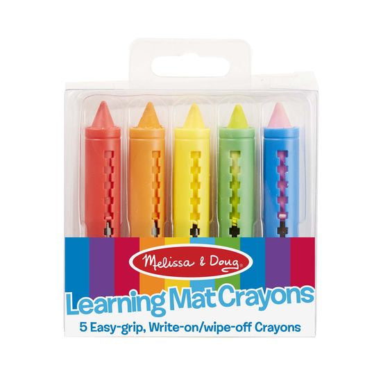 Melissa & Doug Learning Mat Crayons