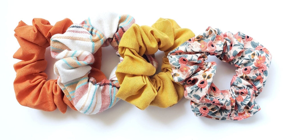 Pink Daydream  Scrunchie Set of Four - Fall