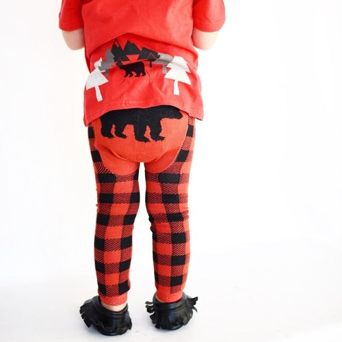 Doodle Pants - Black Bear Plaid