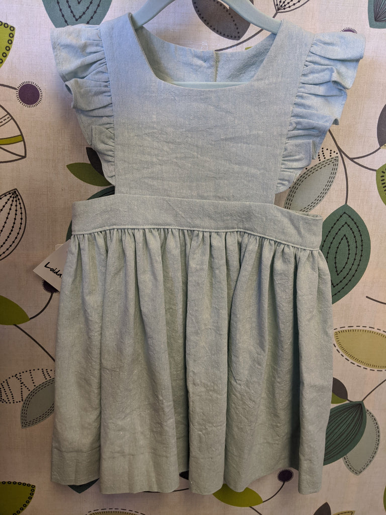 Loida&Lolli- Linen Pinafore dress