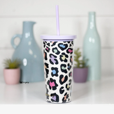 Mugsby Glitter Tumbler with Straw