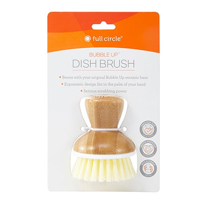 Full Circle Bamboo & White Bubble Up Replacement Dish Brush