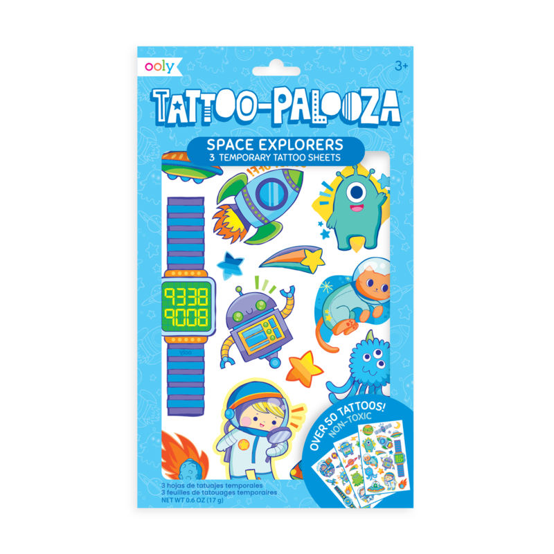 Ooly Tattoo Palooza Temporary Tattoos - Space Explorer