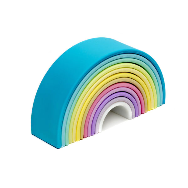 dëna Large Silicone Pastel Rainbow Stacker